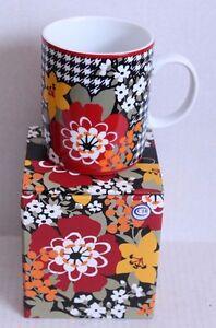 Vera Bradley BITTERSWEET Retired Pattern Coffee Classic Mug Cup New In Box