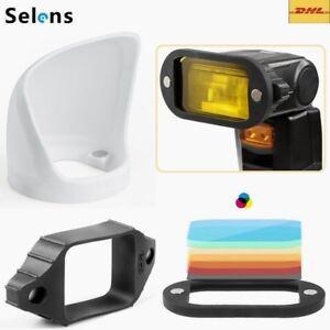 Selens 3in1 Magnetic Flash Modifier Light Bounce Diffuser Band Grip& Gel Filters