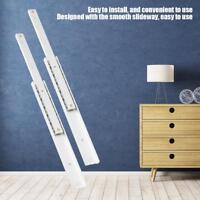 2pcs Smooth Slideway Drawer Cabinet Drawer Slides Rail 70-250mm Aluminum Alloy