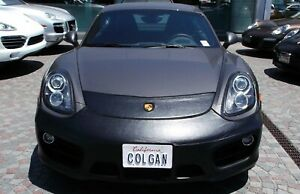 Colgan Front End Mask Bra 2pc.Fits Porsche Cayman 2014-2016 Without License Pl.