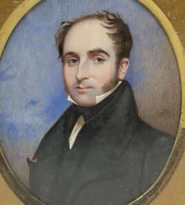 Miniature Portrait Gentleman Scottish Artist George Marshall Mather 1830s