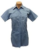 Flying Cross 189R5425 Women's Short Sleeve Uniform Shirt, Blue