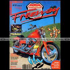 FREEWAY N°10 CUSTOM & HARLEY-DAVIDSON ★ Couverture COYOTE ★ POSTER ★ 1992