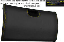 YELLOW STITCH BOTTOM GLOVE BOX LID LEATHER COVER FITS TOYOTA SUPRA MK4 93-02