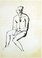 Kunstakademie Düsseldorf. Lithographie von Karl BOBEK (1925-1992 D) handsigniert