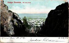 Postcard NJ Orange Mountain Old Cable Road Trolley Duplex Cancel UDB 1906 M35