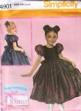 DRESS Fancy Party Daisy Kingdom OOP Simplicity Pattern 4901 Size Girls/Child 3-6