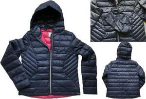 NEW IN! NEXT Ladies NAVY Packaway Padded Winter Duck Down Coat Jacket £50 6 - 22