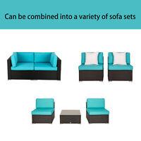 Rattan Garden Corner Sofa Loveseat Sectional Furniture Outdoor Patio Wicker