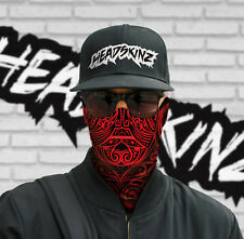 FACE MASK / BANDANA - TRIBAL RED - (Motorbike, Gym, Cycling, Yoga, Fishing, Ski)