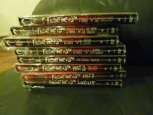 FRIDAY THE 13TH 1 to 8 Region 1 DVDs Lenticular Slipcases.