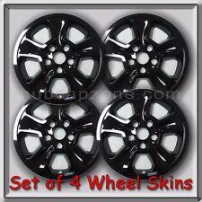 "2015-2016 Jeep Grand Cherokee Black Wheel Skins 17"" Hubcaps Wheel Covers Set 4"