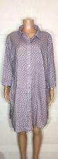Ulla Popken Women's Plus Size 20/22 Purple Polka Dot Shirt Dress Long