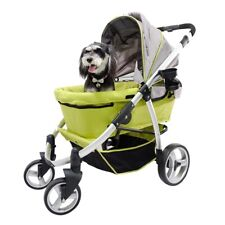 Ibiyaya Collapsible Elegant Retro I Stroller for Cats & Dogs up to 35kg - Green