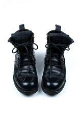 Original Dolce&Gabbana Men Leather Boots Military style Shoes sz.UK 8 EUR 41/42
