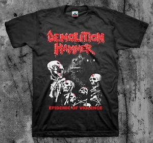 DEMOLITION HAMMER 'Epidemic Of Violence' T shirt (Kreator Slayer Venom Thrash)