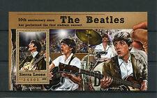 Sierra Leona 2015 estampillada sin montar o nunca montada el primer concierto de los Beatles 50th aniversario 1v S/S John Lennon