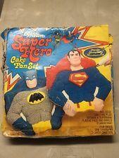WILTON SUPER HERO CAKE PAN SET, Batman & Superman, Vintage 1977