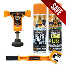 Chain Monkey Bundle, Chain Lube Cleaner Motorcycle Wax Honda Ducati Suzuki BMW