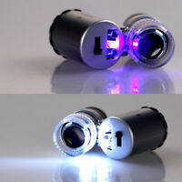 Handgerät Tasche Mikroskop Lupe Juwelier Silber Vergrößerungsglas Mit LED N C8I6