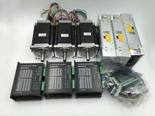 CNC Nema34 Stepper Motor 3Axis Kit 12N.m L150mm Motor Driver&Supply&5Axis Board