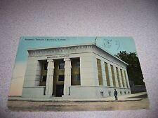 1912 MASONIC TEMPLE LAWRENCE KANSAS KS. ANTIQUE POSTCARD