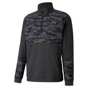 Puma Golf Mens Black Cloudspun Camo 1/4 Zip (Large) BNWT