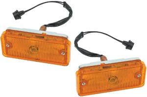 Pair 67-68 Chevy C10 Truck Front LH/RH Grille Turn Light Parking Lamp Assemblies
