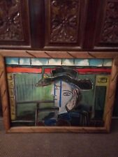 Fantastic Lost antique 1939 Original Signed Picasso Oil On Canvas Dated 1939