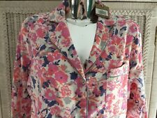 BNWT JOULES Firl Verity Long Nightshirt Size 14 Cream Pink Blue Floral Cotton