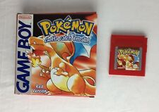 Pokemon Red Game Nintendo Game Boy with Box Working Condition 1999 Tested