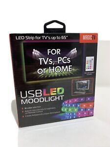 NEW tzumi 5158WM Aura LED USB LED 6.5' Mood Light Strip with Remote QTY 6 Strips