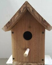 Bird House Solid Cedar Birdhouse Handcrafted Bluebird Wren Nuthatch
