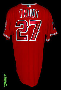MIKE TROUT AUTOGRAPHED 1ST MLB HOMERUN JULY 24, 2011 AUTHENTIC BASEBALL JERSEY