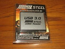 Hoodman Raw Steel Cf/Sd Udma Memory Card Reader SuperSpeed Usb 3.0 Rawusb3