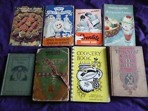 8 vintage / Antique old cookery books booklets JOB LOT ,Galt cookbook 1898
