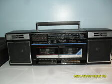 Vintage Boombox Am-Fm Stereo Double Cassette High Speed Dubbing Sears See Video
