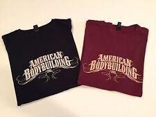 2 Brand new ABB performance men's t-shirt s/s l black maroon ultra soft Lot Of 2