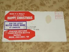 Original CHRISTMAS 1969 Postcard MATER PRIZE HOME Jindalee Ticket Reminder