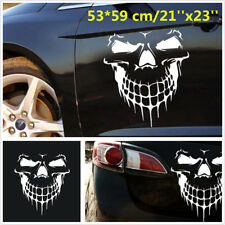 White Vinyl Skull Skeleton Body Decal Car Window Hood Side Door Sticker Emblem