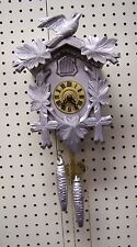 Black Forest Unique Silver and Gold Tone One Day Cuckoo Clock
