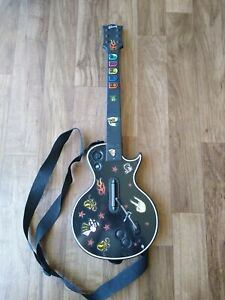 Guitar Hero Wireless Controller Gibson Les Paul XBOX 360 Red Octane With Strap