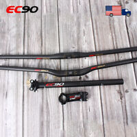 EC90 MTB Road Bike Carbon Handlebar 25.4/31.8mm Stem 6/17°Seatpost Ultralight