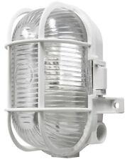 Oval Caged Bulkhead Light - White - 60W S5880 POWERMASTER
