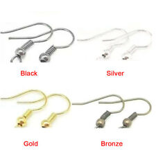 Fashion Plated Silver Earring Hook Coil Ear Wire For Jewelry Making Ear Hook FT
