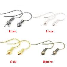 Fashion Plated Silver Earring Hook Coil Ear Wire For Jewelry Making Ear Hook IA