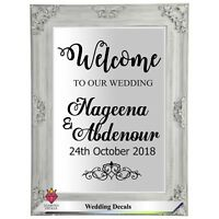 Personalised Wedding Frame Custom Venue Welcome Decor Mirror Sticker Vinyl Decal