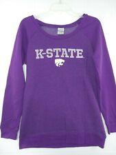 Kansas K State University Wildcats Sweatshirt Size Women's Large Purple NWOT KSU