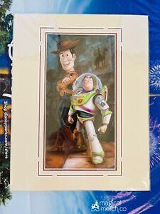 "Disney Parks Toy Story Woody & Buzz Lightyear Darren Wilson 14x18"" Matted Print"