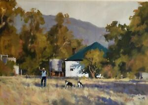 'WELCOME VISITORS' Original Oil Painting by Award Winning Artist ROS PSAKIS